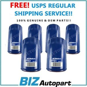 6 Pcs! GENUINE OIL FILTER for 75-12 BUICK CADILLAC CHEVY GMC HUMMER PF61