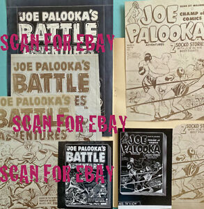 HARVEY ARCHIVES 1953 unpublished cover proofs Joe Palooka's Battle Adventures 76