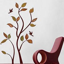 Creative Yellow Late Autumn Leaves Tree Wall Decor Sticker Home DIY