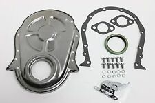 BB Chevy Raw Steel Timing Chain Cover Kit 396 427 454 BBC Gasket Seal Bolts Set