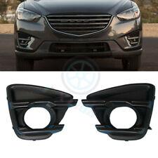 For Mazda CX-5 2015-16 2pcs Front Bumper Bezels ABS Fog Lamp Light Cover Trim j