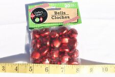 Craft Bells Frosted Red Color Craft Supplies Pieces 3 Sizes 12,15 & 20mm