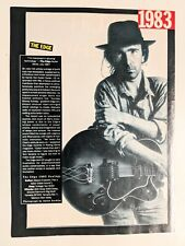 U2 / The Edge / 1983 Profile / Magazine Full Page Pinup Poster Clipping