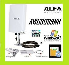 New ALFA AWUS039NH 6800mw 98DBI Wifi Antenna +track  5M cable BEINI RALINK 3070