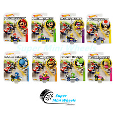 "Hot Wheels Mario Kart Die-cast 2019 Series ""C"" Case 8 Cars Set"