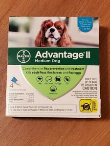 Advantage ll Med Dog 11- 20 lbs  4 monthly doses