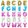 "16"" Alphabet Letter Number Foil Balloons PARTY, BALOONS Gold, Silver, Blue, Pink"