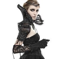 Punk Rave Gothic Victorian Burlesque Retro Vintage Black Glove (One Glove)