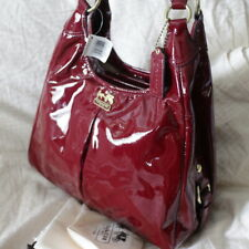 Authentic Coach Madison Crimson Red Patent Leather Large Maggie 21238