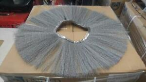 CONVOLUTED POLY & WIRE WAFER ROTATING BRUSH 10 X 36 (.018) HD LARGE LOT 190 PCS