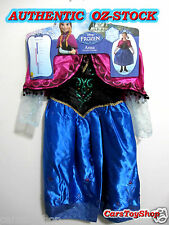 Authentic Disney Frozen Anna Costume Dress Up Size 3 - 5 Girls Kids 3 4 5 Deluxe