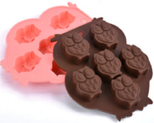 Silicone 6 Owl Cake Decorating Mould Candy Cookies Chocolate Soap Baking Clay