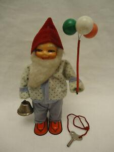 Vintage Romania Santa Claus Christmas Carol Singer Bell Wind Up Tin Toy 60s +Key