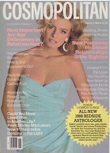 1986 Cosmopolitan Vintage Fashion Magazine Anjelica Huston Debbie Allen 1980s