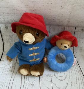 Paddington Bear Baby Rattle & Plush Soft Toy Bundle