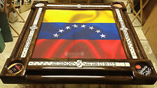 Domino Tables by Art with Venezuela Flag and Personalized with Your Family Name