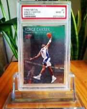 1999 Skybox Metal #1 Vince Carter Emerald PSA 9 - POP 1