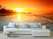 Ocean sunrise Wallpaper Mural Wall Paper Background Furniture