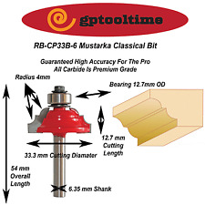 Router Bit  Classical RB-CP33B-6 6.35 mm Shank (Post Only)