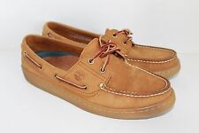 Timberland 2-Eye Boat Shoes Men's Size 8M tan Leather Deck Dock Moccasins Gum