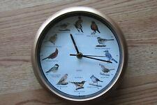 Wall Quartz Clock with Singing Birds