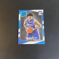 2017-18 Donruss Optic #196 De'Aaron Fox Sacramento Kings RC Rookie Card