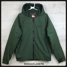 Nike NSW Down Filled Hooded Bomber Jacket Coat, 866022-332, Sz Med, Dark Green
