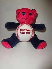 """Boston Red Sox 6"""" Sitting Squeeze Me Teddy Bear - Plays 4 Different Sounds!"""