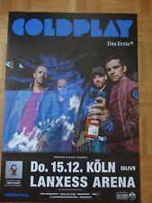 Coldplay Konzert Konzert Tour Poster Plakat 2012 Köln gerollt Top-Zustand
