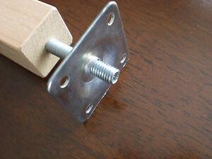 Montageplatte und Metal Dübel Gewindemutter Für Möbelfüße Metrisch M6- M8 - M10