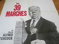 Rare ALFRED HITCHCOCK Huge French Movie Poster for the 39 STEPS Rerelease