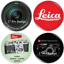 """LEICA IIIc & M Camera Artwork - 1"""" Pin Badge Pack - NEW"""