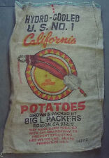 "5 Qty - 24"" x 40"" Clean Used Burlap Potato Sack/Bag/Gunny Rat Rod, Race, Feed"