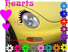Any Car Eyelashes headlight HOT PINK eye liner heart 2011 12 14 15 16 17 VW USA