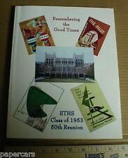 1953 Evanston Township High School 50th Reunion Book Cook County Illinois 2003