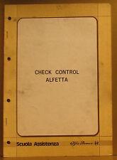 Alfa Romeo * Alfetta * Check Control * Scuola Assistenza *