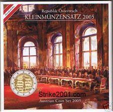 Euro AUSTRIA 2005 in Folder Ufficiale con 2 Euro COM