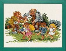 "Dancing ogres Cross Stitch Kit-Eva Rosenstand - 13.75 ""x 11"" (14-151)"