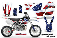 Dirt Bike Decal Graphics Kit Sticker Wrap For KTM SX65 SX 65 2002-2008 USA FLAG