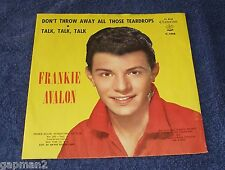 Frankie Avalon 1960 Chancellor 45rpm Picture Sleeve All Those Teardrops TEEN