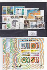 ITALIA REPUBBLICA 1990 ANNATA COMPLETA 27 VALORI+ 6 FOGLIETTI GOMMA INTEGRA