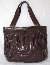 $338 Hobo International Glazed Leather DAPHNE Tote Purse Bag Sac New Brown