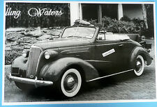 """1937 Chevrolet Convertible Cabriolet 12 By 18"""" Black & White Picture"""