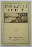 Antique Tool Catalog Disston Saw History Original Diamond Jubilee 1st Ed 1915