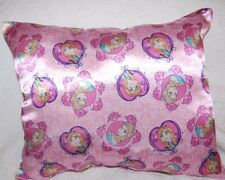 Handmade Disney Frozen Princess Anna & Queen Elsa Pink Satin Pillow