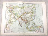 1895 Map Of Asien Fern East Die Orient Alt Antik 19th Jahrhundert Groß