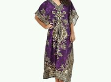 Women's New Floral print Long kaftan dress african style 12 to 24 fit