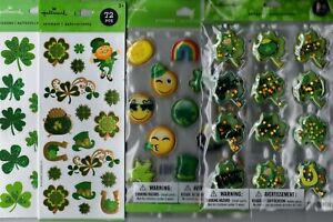 ST. PATRICK'S DAY sticker sets~VARIETIES!~Cute!  FAST SHIP!!