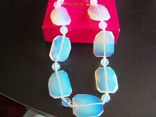 Butler & Wilson Blue Opaque Beaded Necklace