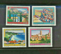 Italy Italian tourism 1981 Complete set of 4 Colorful Pictorial Stamps #1466-69